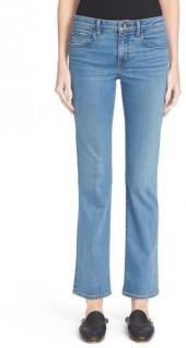 Helmut Lang Skinny Flare Crop Jeans (Light Blue)