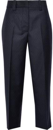 Acne Studios - Trea Polka-dot Grain De Poudre Wool Straight-leg Pants - Navy