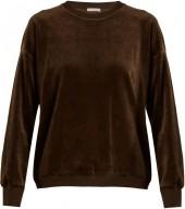 VINCE Round-neck cotton-velour sweatshirt