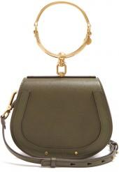 CHLOÉ Nile small leather and suede cross-body bag