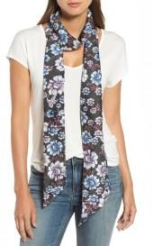 Women's Treasure & Bond Mirrored Floral Silk Skinny Scarf