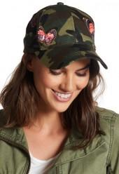 Natasha Accessories Camo Butterfly Hat