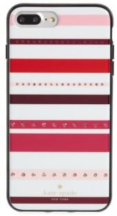 Kate Spade New York Jeweled Stripe Iphone 7 & 7 Plus Case - Pink