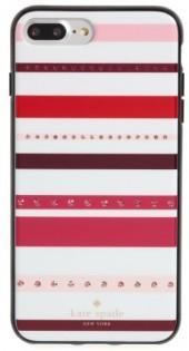 Kate Spade New York Jeweled Stripe Iphone 7 & 7 Plus Case - Pink