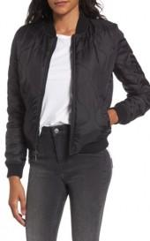 Women's French Connection Cropped Quilted Bomber Jacket