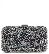 Nordstrom Confetti Glitter Minaudiere - Black