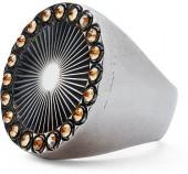Ralph Lauren Brass-Crystal Sunburst Ring