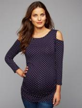Isabella Oliver Cold Shoulder Maternity Top
