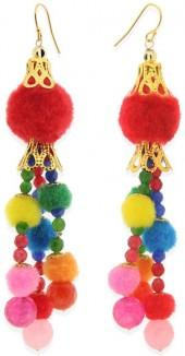 Taolei Jade Pompom Earrings