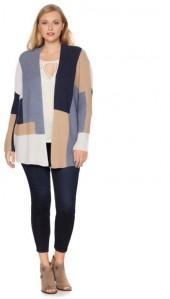 Lucky Brand Colorblocked Cardigan - Plus