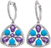 Rarities Fine Jewelry with Carol Brodie Rarities: Fine Jewelry with Carol Brodie Gem and White Zircon Drop Earrings