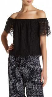 Atina Off-the-Shoulder Lace Blouse