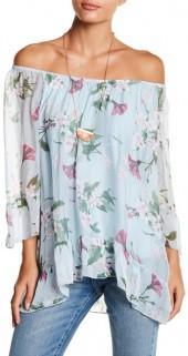 Luma Off-the-Shoulder Floral Print Blouse