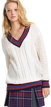 Varsity Cable Sweater
