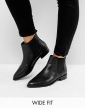 ASOS AUTOMATIC Wide Fit Leather Chelsea Boots