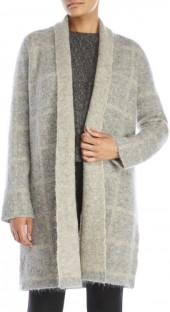 eileen fisher Check Shawl Collar Coat