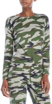 ply cashmere Petite Camo Cashmere Sweater