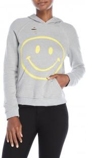 honey punch Smile Distressed Hoodie