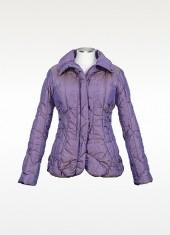 Forzieri Women's Metallic Purple Puffer Jacket