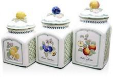 Villeroy & Boch Villeroy & Boch Canisters, Set of 3 French Garden