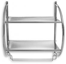 Double Shelf Towel Rack