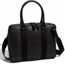 Burberry Small Check Print Briefcase
