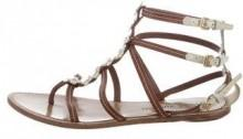 Louis Vuitton Fleur Embellished Cage Sandals