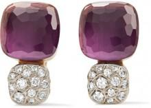 Pomellato - Nudo Solitaire 18-karat Rose Gold, Amethyst And Diamond Earrings