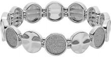 Plus Size Hammered & Glittery Disc Stretch Bracelet