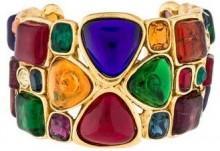 Chanel Gripoix Cuff Bracelet