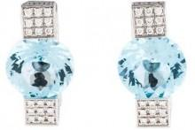 Chopard 18K Topaz & Diamond Earrings
