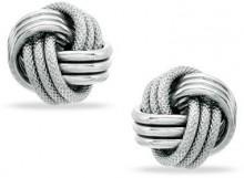 Love Knot Earrings in 14K White Gold