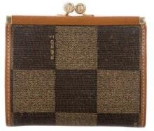 Fendi Leather-Trimmed Coin Purse