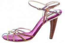 Dolce & Gabbana Snakeskin Multistrap Sandals
