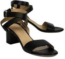 M.Gemi Black Attorno Sandals