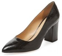 Liz Embossed Leather Pump
