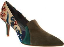 Lori Goldstein Collection Novelty Pumps with Goring Detial