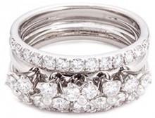 Ferrari Firenze 'Trilly' diamond 18k white gold three row ring