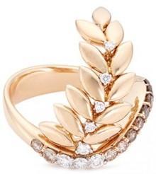 Ferrari Firenze 'Arya' diamond 18k rose gold vine ring