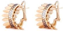 Ferrari Firenze 'Sole' diamond 18k rose gold hoop earrings