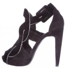 Pierre Hardy Suede Caged Sandals