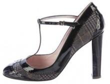 Laurence Dacade Plaid T-Strap Pumps