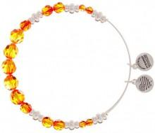 Alex and Ani Fire Swarovski Beaded Bangle