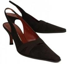 Donald J Pliner Dark Brown Slingbacks