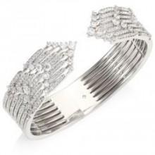 Adriana Orsini Greta Hinged Crystal Cuff Bracelet