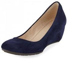 Cole Haan Sadie Grand Suede Wedge Pump, Marine Blue