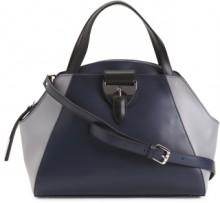 Made In Italy Color Block Dome Leather Satchel