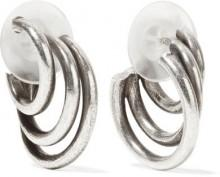 DANNIJO - Winona Oxidized Silver-tone Hoop Earrings