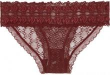 Stella McCartney - Jasmine Inspiring Lace Briefs - Burgundy