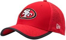 New Era San Francisco 49ers NFL Training Mesh 39THIRTY Flex Hat